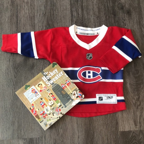 Montreal Canadiens Official NFL Jersey Plus Book